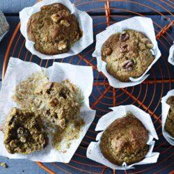 Muffins Μπανάνας, ολικής άλεσης σε 30 λεπτά
