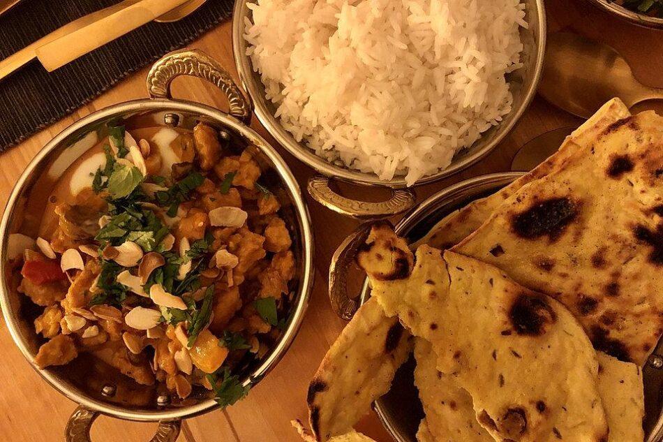"Vegan Ινδικό ""Κοτόπουλο"" σόγιας Korma"