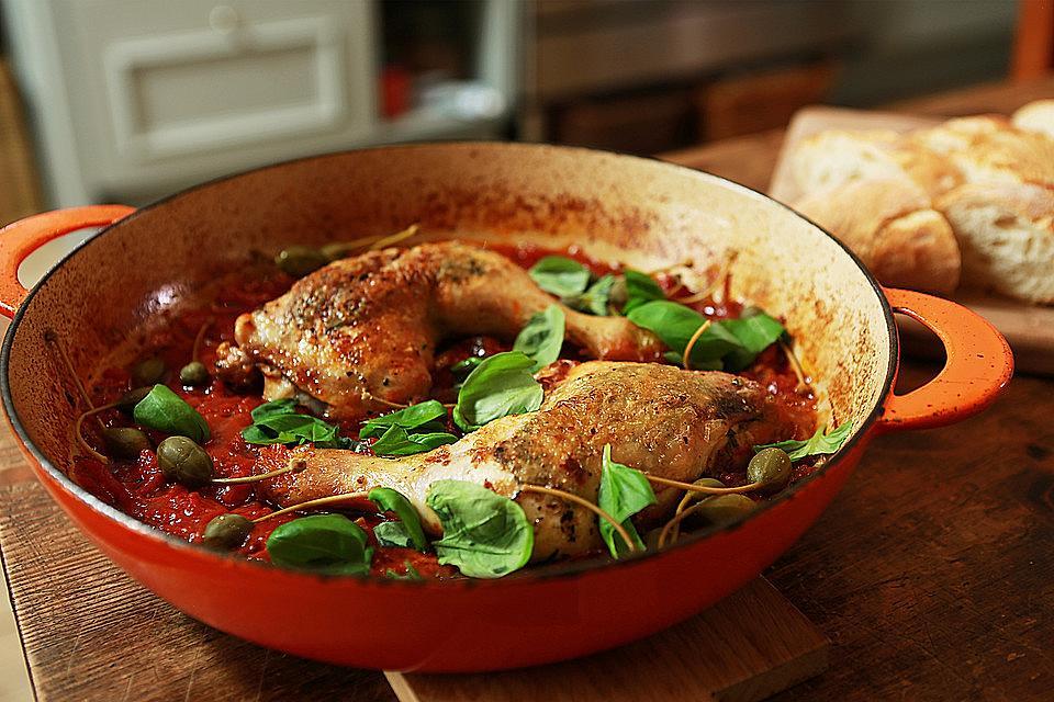 Μπούτια κοτόπουλο με σάλτσα, Ιταλική συνταγή